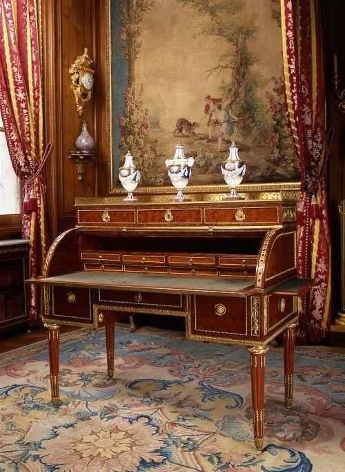bureau cylindre 1780 de claude charles saunier. Black Bedroom Furniture Sets. Home Design Ideas