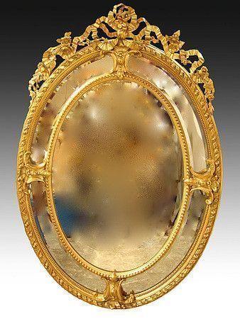 Miroir bizeaut dor poque napol on iii for Specchio rotondo antico