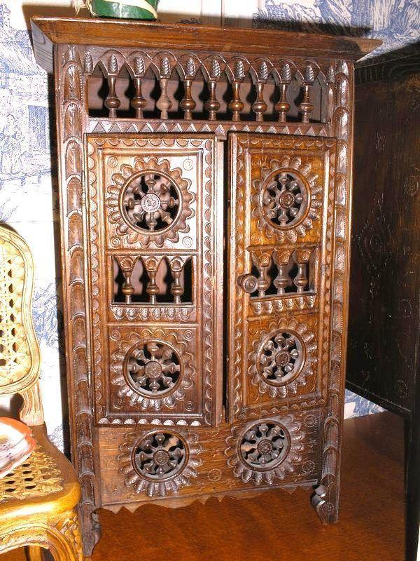 Grande armoire bretonne ann e 1900 - Armoire bretonne ancienne ...